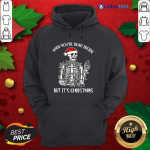 Funny When You're Dead Inside But It's Christmas Shirt Design By Blablatee.com
