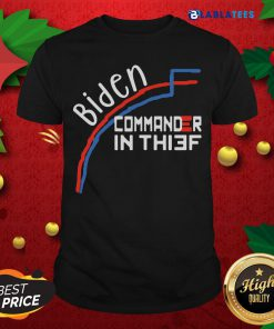 Nice Joe Biden Commander In Thief Benford's Law Trump Shirt Design By Blablatee.com