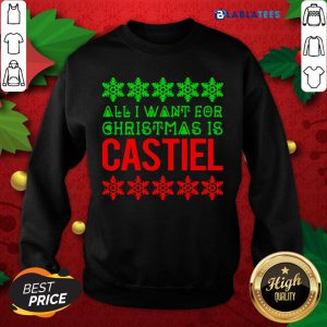 Premium All I Want For Christmas Is Castiel Shirt Design By Blablatee.com