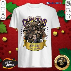 Top 2020 NBA Champions Los Angeles Lakers 17 Champs Cartoon Shirt Design By Blablatee.com