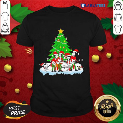 Top Snoopy And Woodstock And The Beatles Santa Happy Christmas 2020 Shirt Design By Blablatee.com