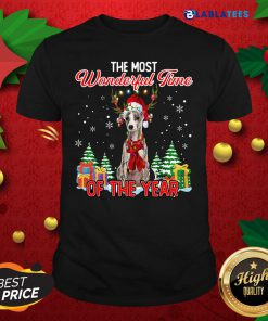 Whippet The Most Wonderful Time Of The Year Ugly Christmas Shirt Design By Blablatee.com