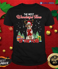 Wire Fox Terrier The Most Wonderful Time Of The Year Christmas Shirt Design By Blablatee.com