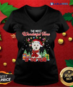 West Highland White Terrier The Most Wonderful Time Of The Year Ugly Christmas Shirt Design By Blablatee.com