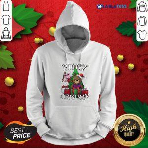 Bear And Pig Piggy Christmas Shirt Design By Blablatee.com