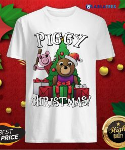 Bear And Pig Piggy Christmas Shirt Design By Blablatee.com