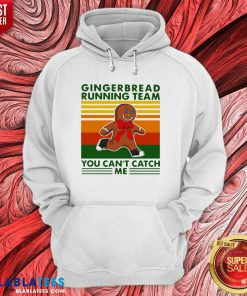 Gingerbread Running Team You Can'T Catch Me Vintage Shirt Design By BLablatee.com