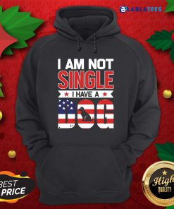 I Am Not Single I Have A Dog Us Flag Shirt Design By Blablatee.com
