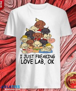 Dogs I Just Freaking Love Lab Ok Shirt Design By BLablatee.com