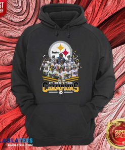 Hot Pittsburgh Steelers 2020 AFC North Division Champion Signatures Shirte Design By BLablatee.com
