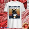 Bourbon Goes In Wisdom Come Out Cat Drink Tea Vintage Shirt Design By Blablatee.com
