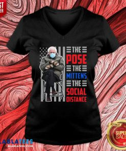 Bernie Sanders The Pose The Mittens The Social Distance Shirt Design By Blablatee.com