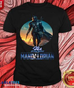 The Mandalorian Star Wars Signature Sunset Shirt Design By Blablatee.com