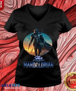 v The Mandalorian Star Wars Signature Sunset Shirt Design By Blablatee.com
