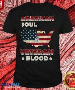 American Flag Soul Veteran Blood Shirt Design By Blablatee.com