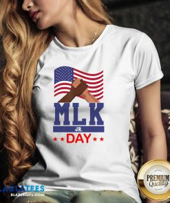 American Flag Martin Luther King Jr Day MLK Fist Freedom Shirt Design By Blablatee.com