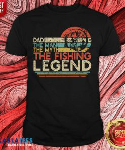 Dad The Man The Myth The Fishing Legen Vintage Shirt Design By Blablatee.com