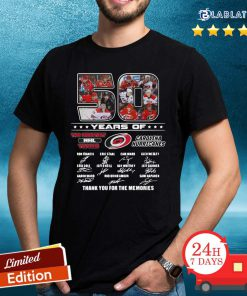 50 Years Of Carolina Hurricanes The Greatest NHL Teams Thank You For The Memories Signatures Shirt Design By BLablatee.com