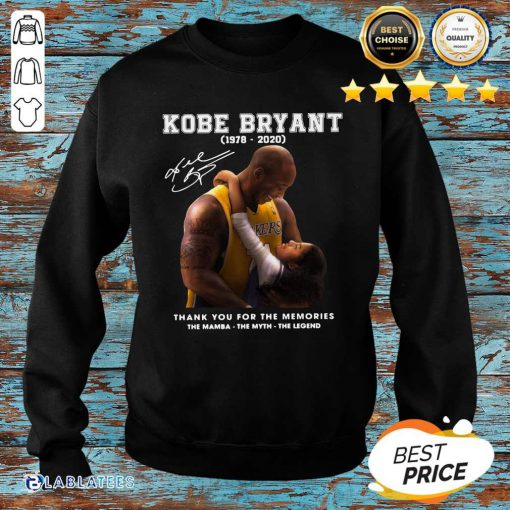 Kobe Bryant 1978 2020 Thank You For The Memories The Mamba The Myth The Legend Signature Shirt Design By BLablatee.com