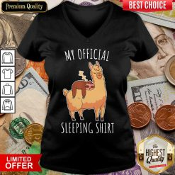 Good Sloth And Alpaca My Official Sleeping V-neck