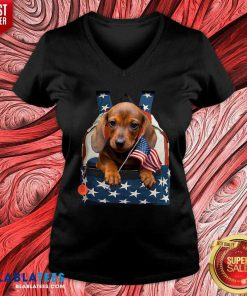 Dachshund-CS 1942 V-neck - Design By Blablatees.com