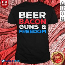 Beer Bacon Guns And Freedom Shirt - Design By Blablatees.com