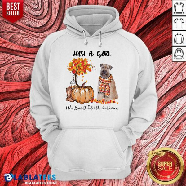 Just A Girl Who Love Fall And Wheaten Terrier Halloween Hoodie - Design By Blablatees.com