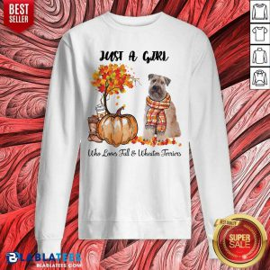 Just A Girl Who Love Fall And Wheaten Terrier Halloween Sweatshirt - Design By Blablatees.com