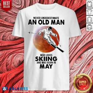 Never Underestimate An Old Man Who Loves Skiing April Blood Moon Shirt - Design By Blablatees.com