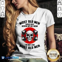 Skull Most Old Men Would Have Given Up By Now I'm Not Like Most Old Men V-neck - Design By Blablatees.com