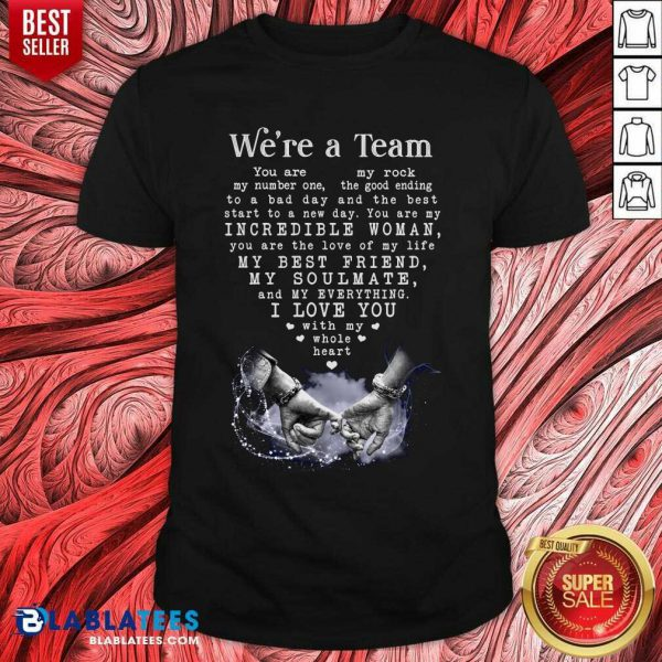 We'Re A Team Amazing Gift For Wife Gallery Wrapped Canvas Prints Shirt - Design By Blablatees.com