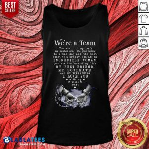 We'Re A Team Amazing Gift For Wife Gallery Wrapped Canvas Prints Tank Top - Design By Blablatees.com