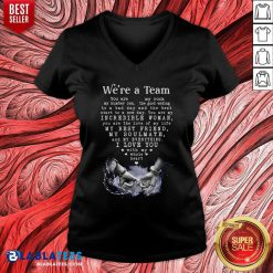 We'Re A Team Amazing Gift For Wife Gallery Wrapped Canvas Prints V-neck - Design By Blablatees.com