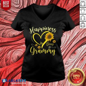 Happiness Is Being A Grammy Sunflowers V-neck