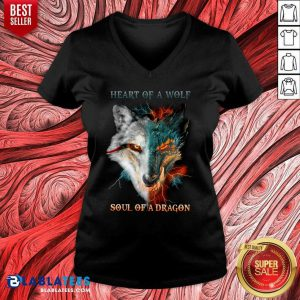 Heart Of The Work Soul Of A Dragon V-neck
